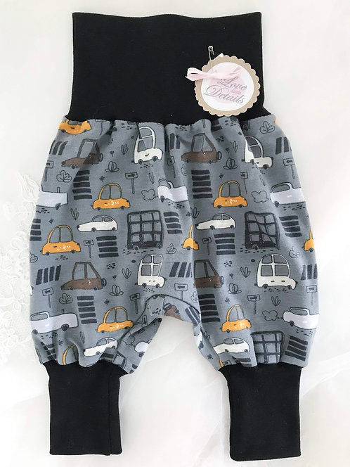 Pant Size 50 (Newborn) Black Cars