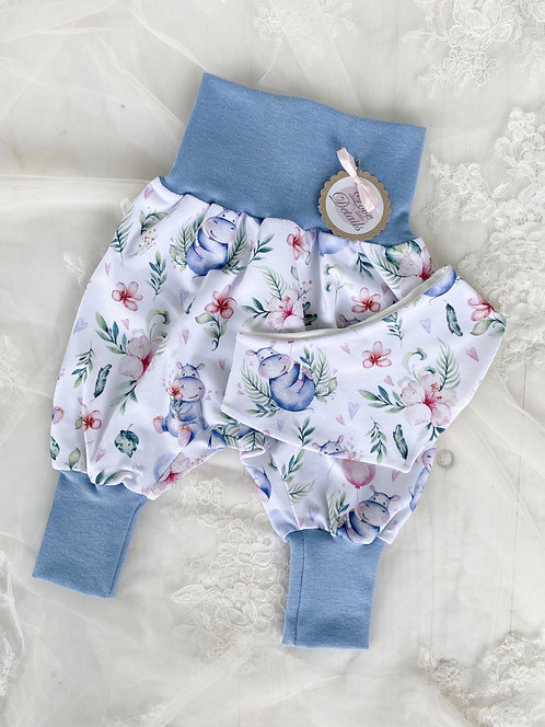 Newborn Set 56/62 (2-6 m) Hawaiian Hippo