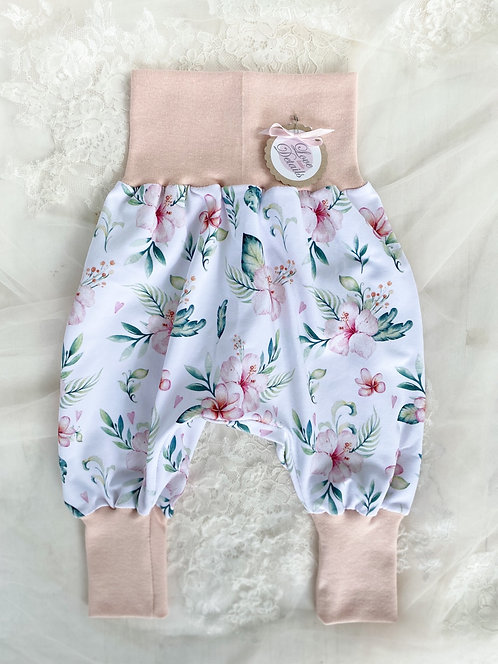 Pant Size 68/74 (6-12 m) Hawaiian Flowers