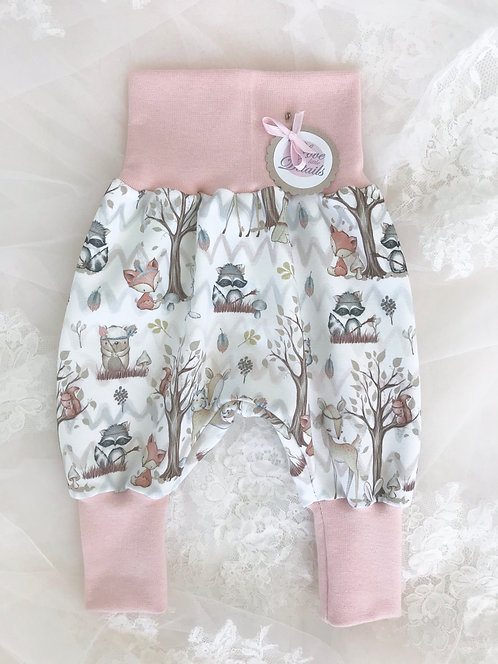 Pant Size 56/62 (2-6 m) Forest Friends Pink