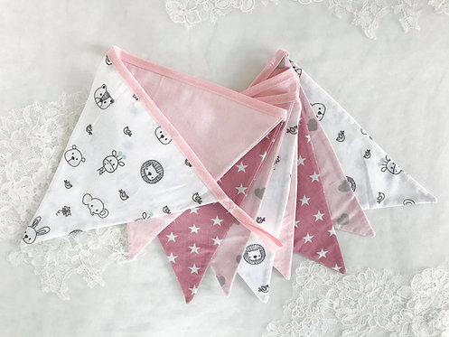Wimpel 1.6m Pink Stars