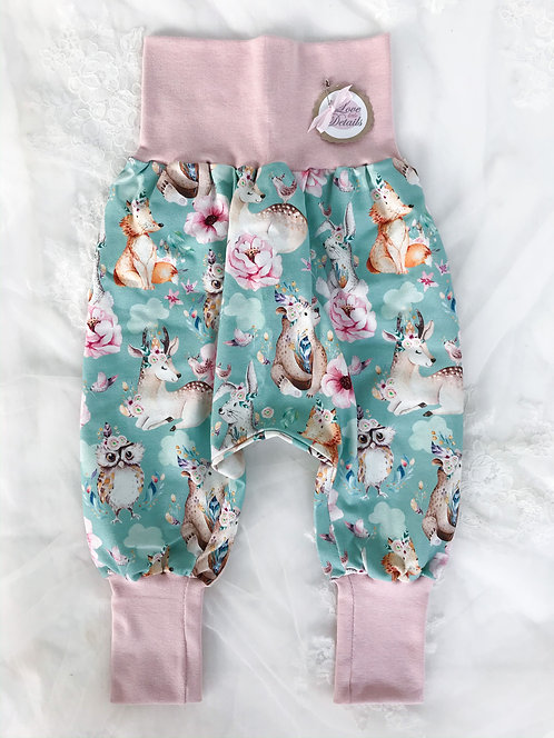 Panda Size 92/98 (2-4 yr) Pink Flowers/Animals