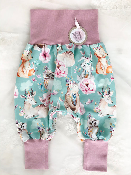 Pant Size 68/74 (6-12 m) Floral Animals