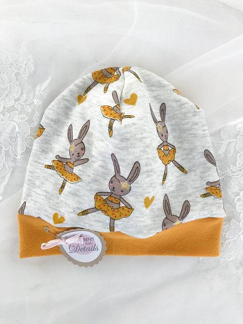 Wendebeanie Gr. 3 (KU 43-45 cm) Rabbits/Pandas