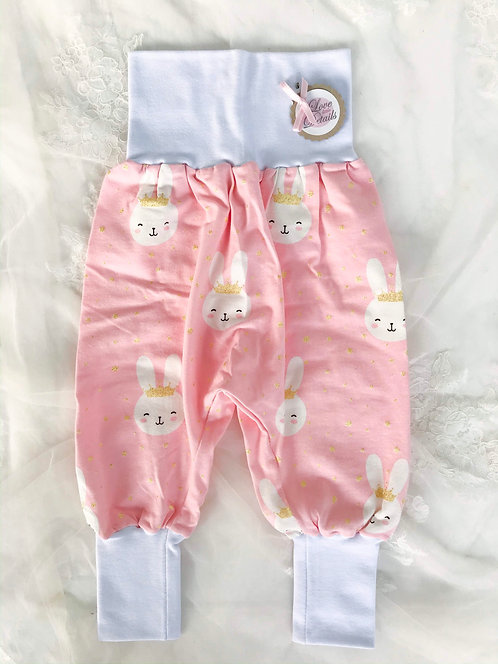 Pant Size 92/98 (2-4 yr) Pink White Bunny Rabbit