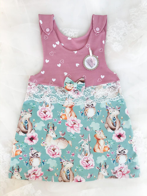 Dress Size 92 (2-3 yr) Hearts/Animals