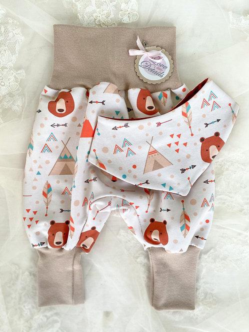 Newborn Set 56/62 (2-6 m) Boho Bear