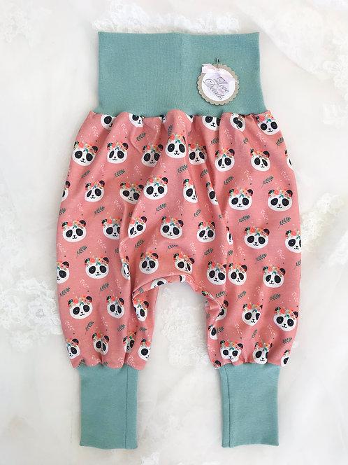 Pant Size 80/86 (12-24 m) Boho Panda Dusty mint