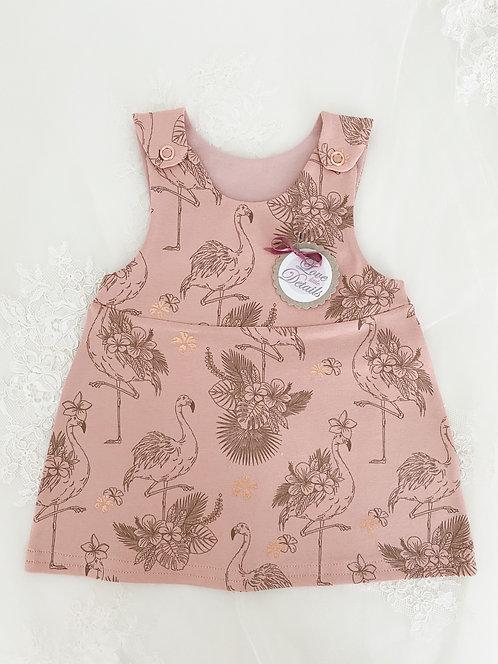 Dress Size 56 (0-3 m) Flamingo