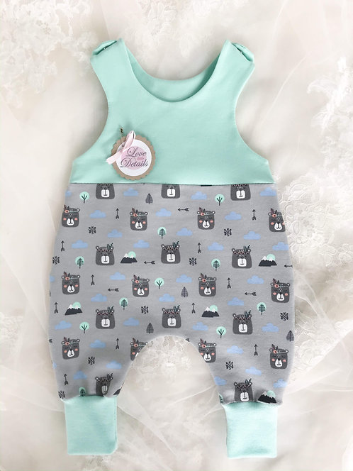 Jumper Size 56 (0-3 m) Gray Boho Bears