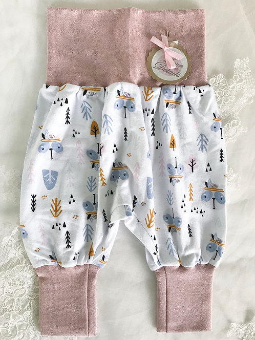 Pant Size 56/62 (2-6 m) Pink/Trees