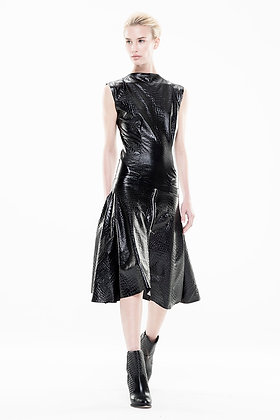 Croc Embossed Dress