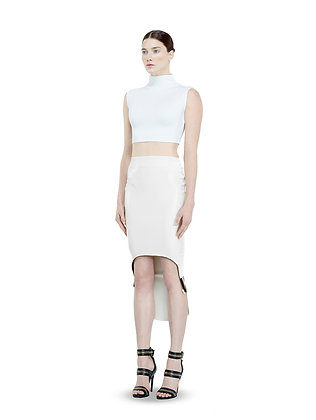 White Leather Cruise Ark Skirt