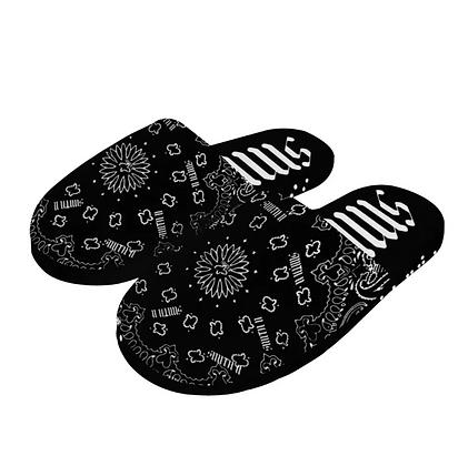 BANDANNA HOME SLIPPERS [BLACK]