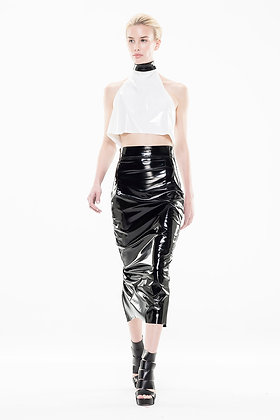 Black Patent Slicker Skirt