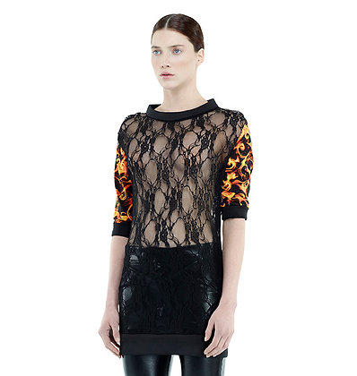 Lace Flamed Tunic