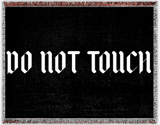 DNT 60 x 80 Woven Blanket [Black][Limited Edition]