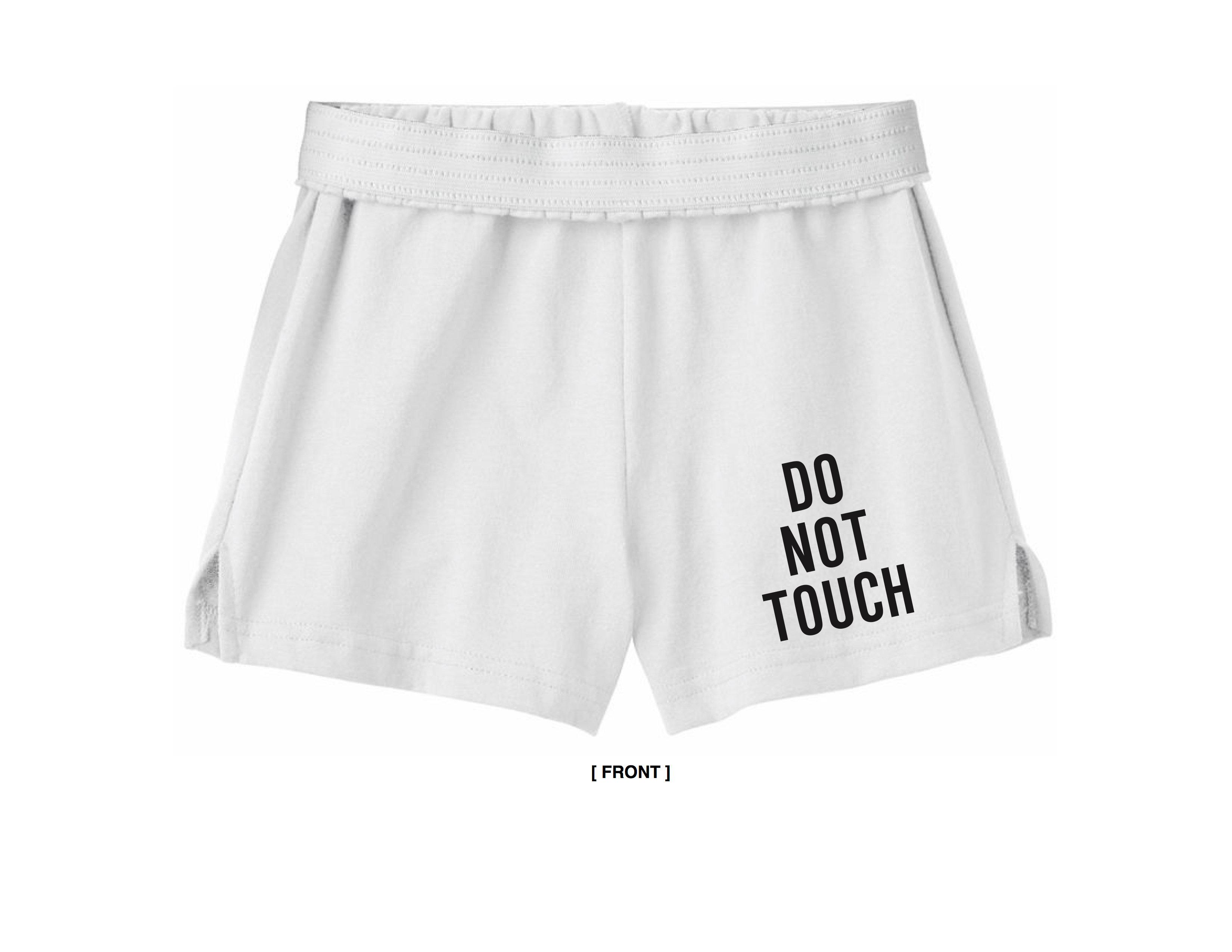 white soffe shorts