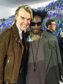 W/ Ken Downing at Dior SS16 PFW