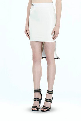 Fin Tail Leather Mini Skirt