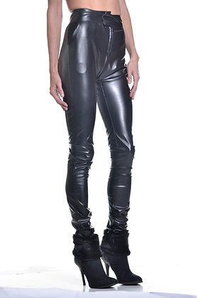 #33# Fur Cuff Leather Pants