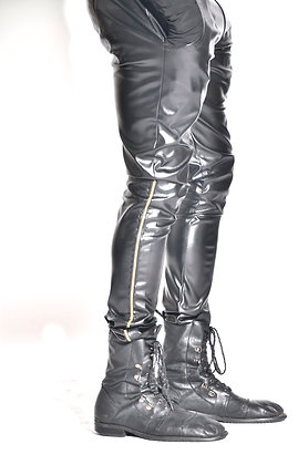 Open Side Leather Pants