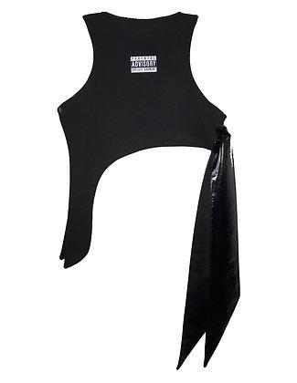 """(NEW)(FW18) Vitruvian """"PAEG-DNT"""" Tie Crop Top"""