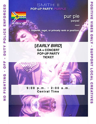 [EARLY BIRD]GA POP-UP PARTY ONLY: PURPLE 11:00p.m.
