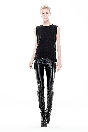 S2 Black Leatherette Pant