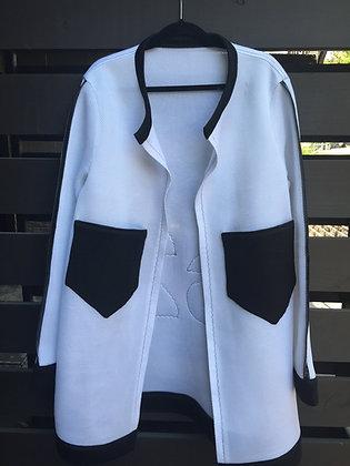 S2 White Oversize Jacket(White)