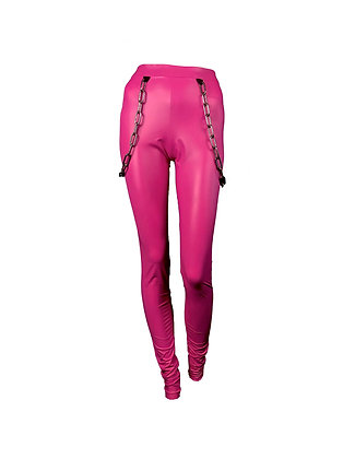 Bubble Pink Chained Leggings