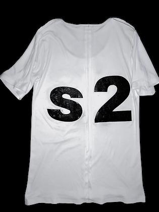 DISD S2.0 Benefit WHT Xposed Seam T-Shirt