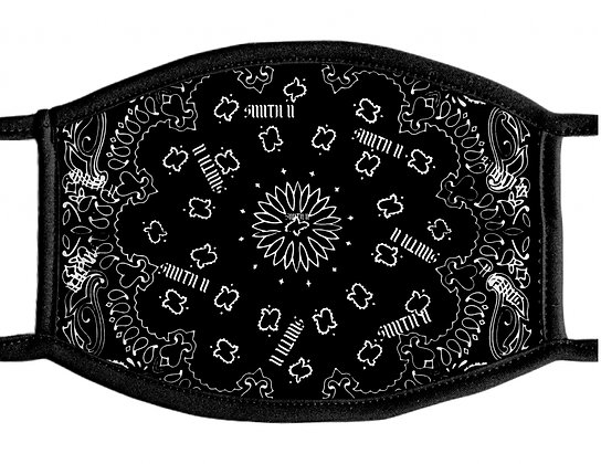 SMITH II Bandanna Face Mask[Black]