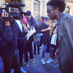 Interview after Dior SS16 Show in Paris