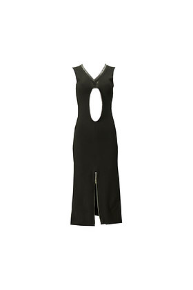 S2 CROC TRIM RIBBED DRESS- (S200044)
