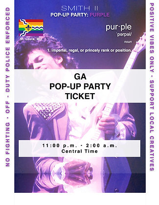 GA POP-UP PARTY ONLY: PURPLE 11:00p.m.