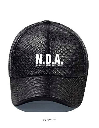 "S2 ""NDA"" SNAKESKIN EMBROIDERED  DAD CAP [BLACK]"