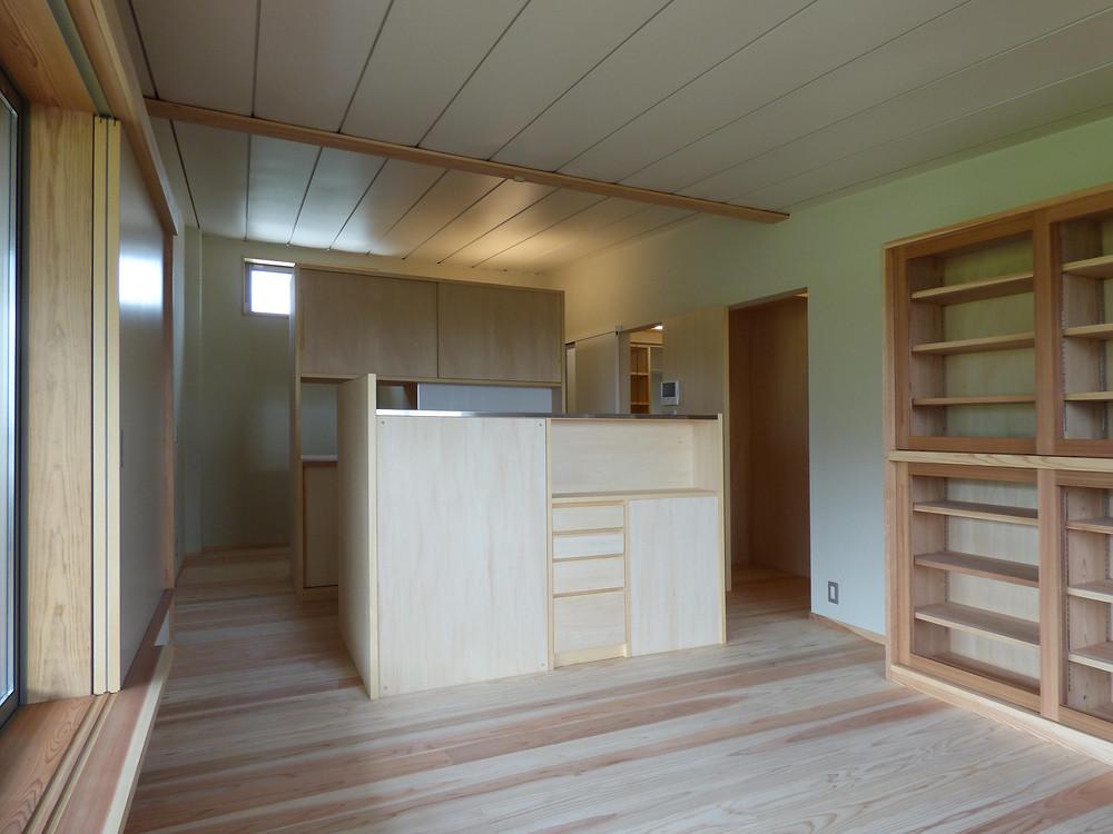 エクセルギーハウス 冷放射パネル 輻射熱 オリジナルキッチン 造作キッチン 木製キッチン