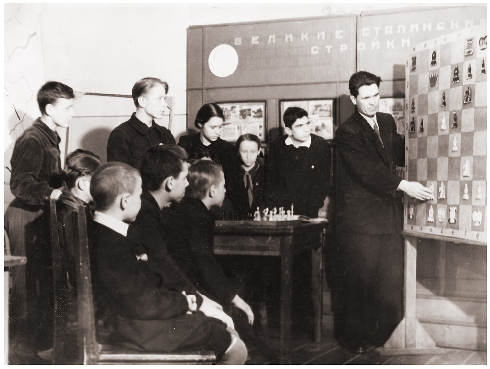 Занятия в шахматном кружке