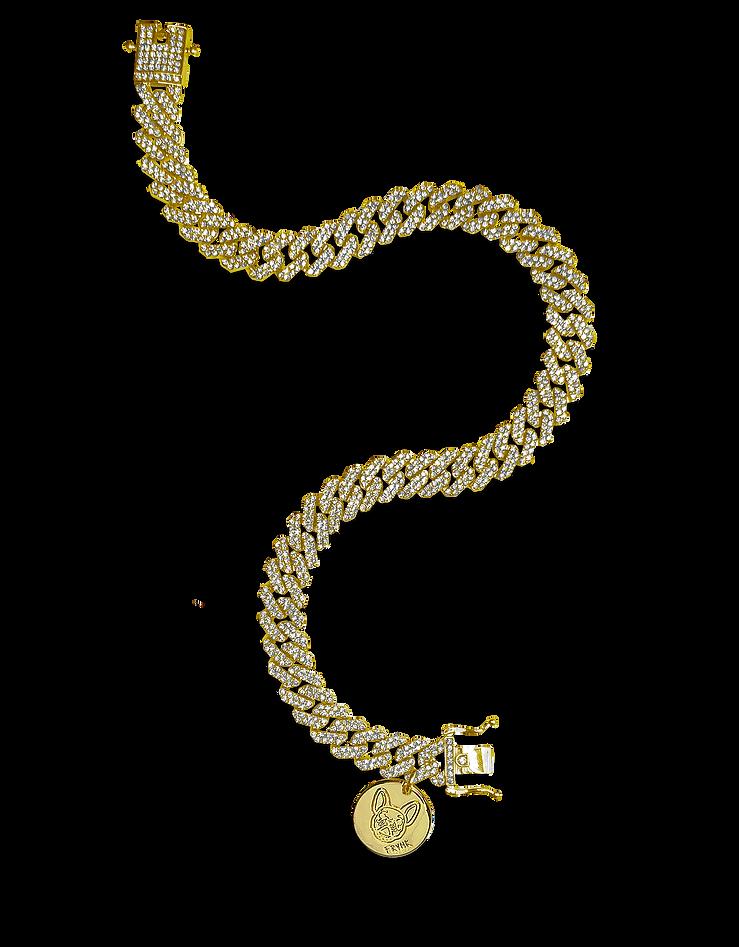 Frenchies, Frvnk Shop, Frvnkshop, dog chain, dog jewelry, Doggie Bling, Dog Chains, Gold, golden, Golden Glacier