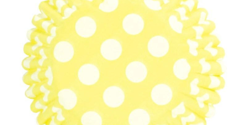 Baking Cases - Spotty Yellow