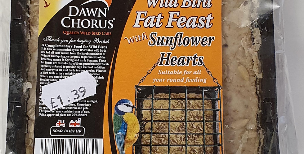 Wild Bird Fat Blocks with Sunflower Hearts