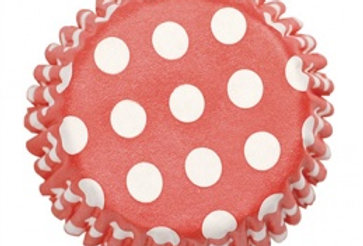 Baking Cases - Spotty Red
