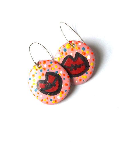 Large Votive Lip earrings