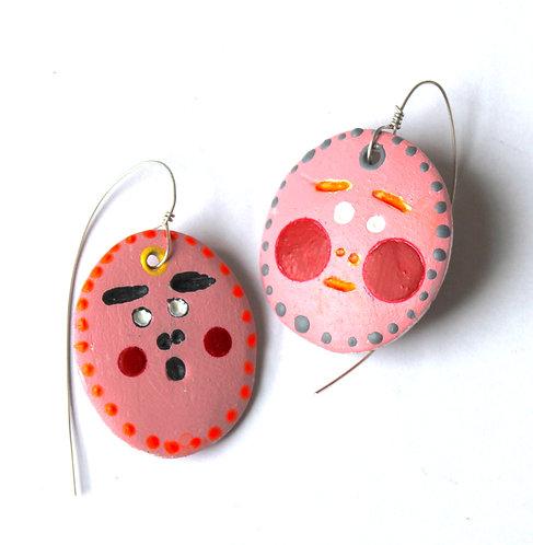 Votive  Shock Face earrings 2