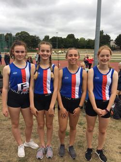 girls relay champs u15 2019