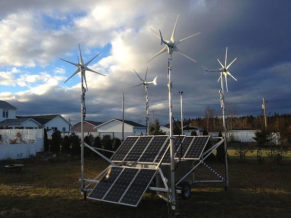 """""""Station Hybride énergie verte renouvelable Nova-Pro solaire éolienne"""