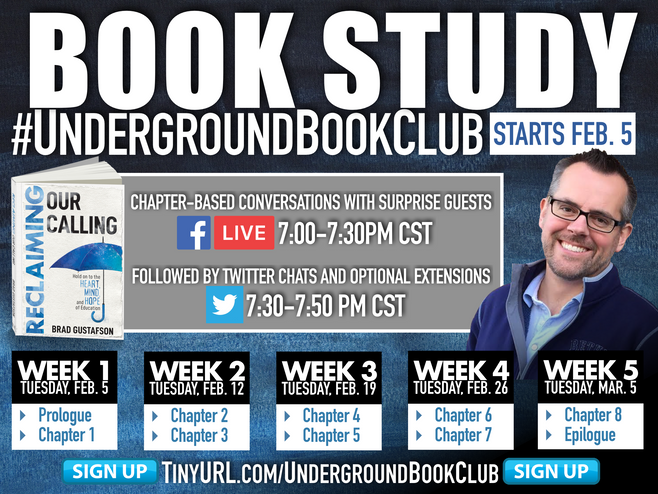 Join the #UndergroundBookClub Book Study