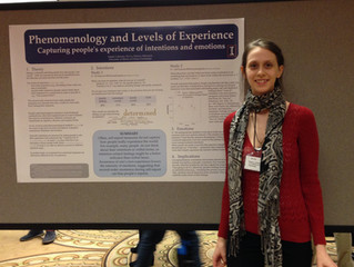 Sophie Lohmann and Colleen Hughes present at the 2015 Meeting of the Midwestern Psychological Associ