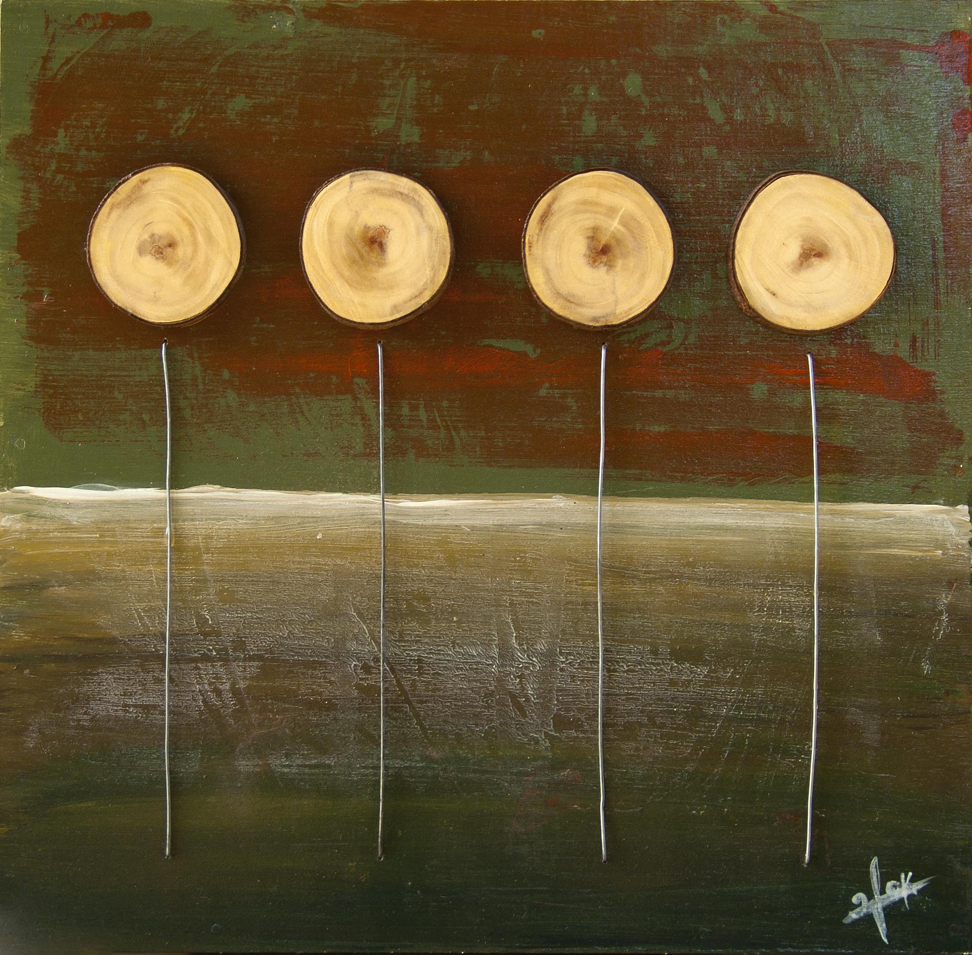 אומנות בעץ | חמניות